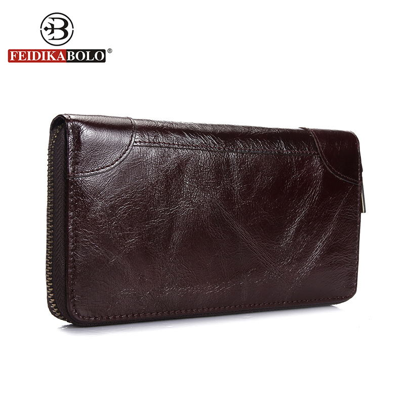 купить FEIDIKA BOLO Men Wallets Famous Brand Men Clutch Bags Men Wallets Leather Wallet Genuine Leather Purses carteira masculina дешево