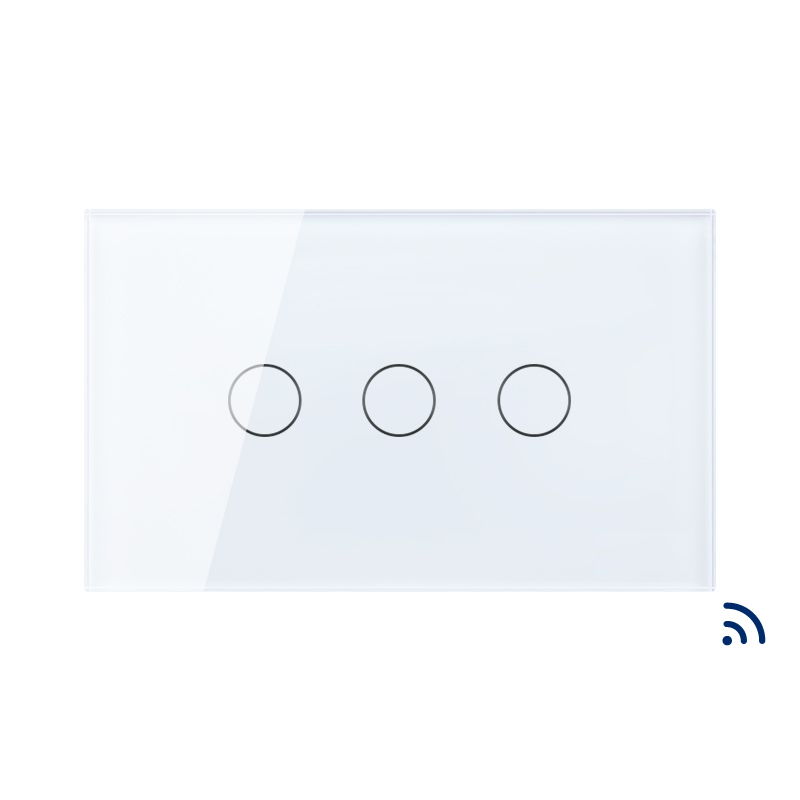 Free Shipping, AU US Standard Remote Touch Switch,3 gang 1 way ,Wireless RF remote Wall Light Switch,KT003RUS smart home us au wall touch switch white crystal glass panel 1 gang 1 way power light wall touch switch used for led waterproof