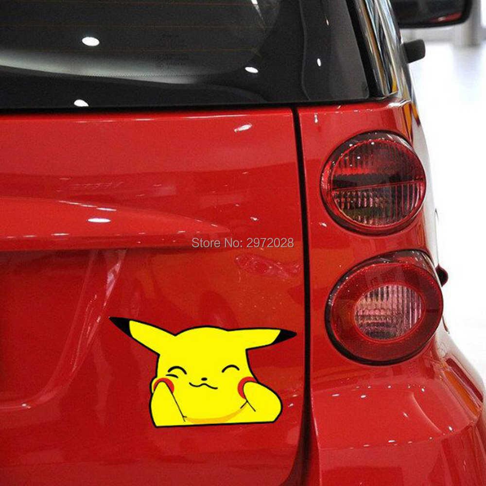 Autocollants de voiture belle bande dessinée Animal de compagnie Pikachu Pokemon autocollants pour Toyota Peugeot Fiesta Opel Chevrolet VW Ford Lada Honda
