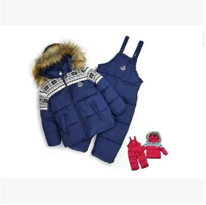 2016 winter infant children's Snowsuit clothing children child baby boy cotton-padded jacket set child ski suit цены онлайн