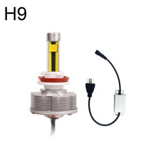 3000K Golden Light H9 LED Automobiles Light Source Fog Lamps H11 Fog Light Cars Bulbs 2SMD 20W Brightest Car Styling