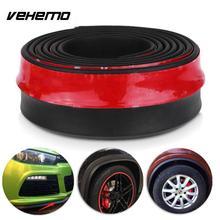 Vehemo Новый 2.5 м Универсальный Автомобильный протектор переднего бампера для губ Splitter Для тела комплект Бамперы для автомобиля Подзор подбородка accessiories высокое качество