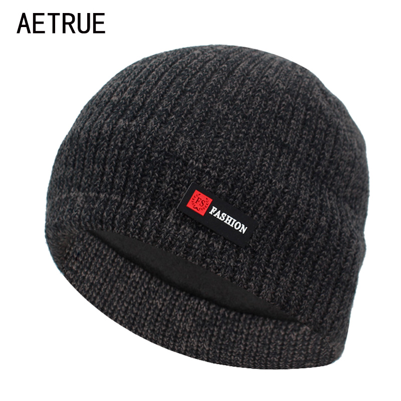 AETRUE Winter Knitted Hat Men   Skullies     Beanies   Winter Hats For Men Women Bonnet Fashion Mask Warm Balaclava Male   Beanie   Hat Cap