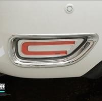 MONTFORD ABS Chrome Tail Fog Light Lamp Cover Rear Foglight Trims 2Pcs For Nissan Armada Patrol