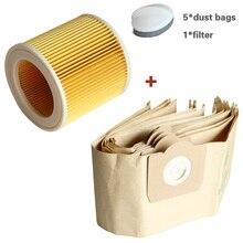 Sac à poussière pour aspirateur KARCHER WD3 Premium, WD 3,300 M WD 3,200 WD3.500 P 6,959 130, 1 filtre
