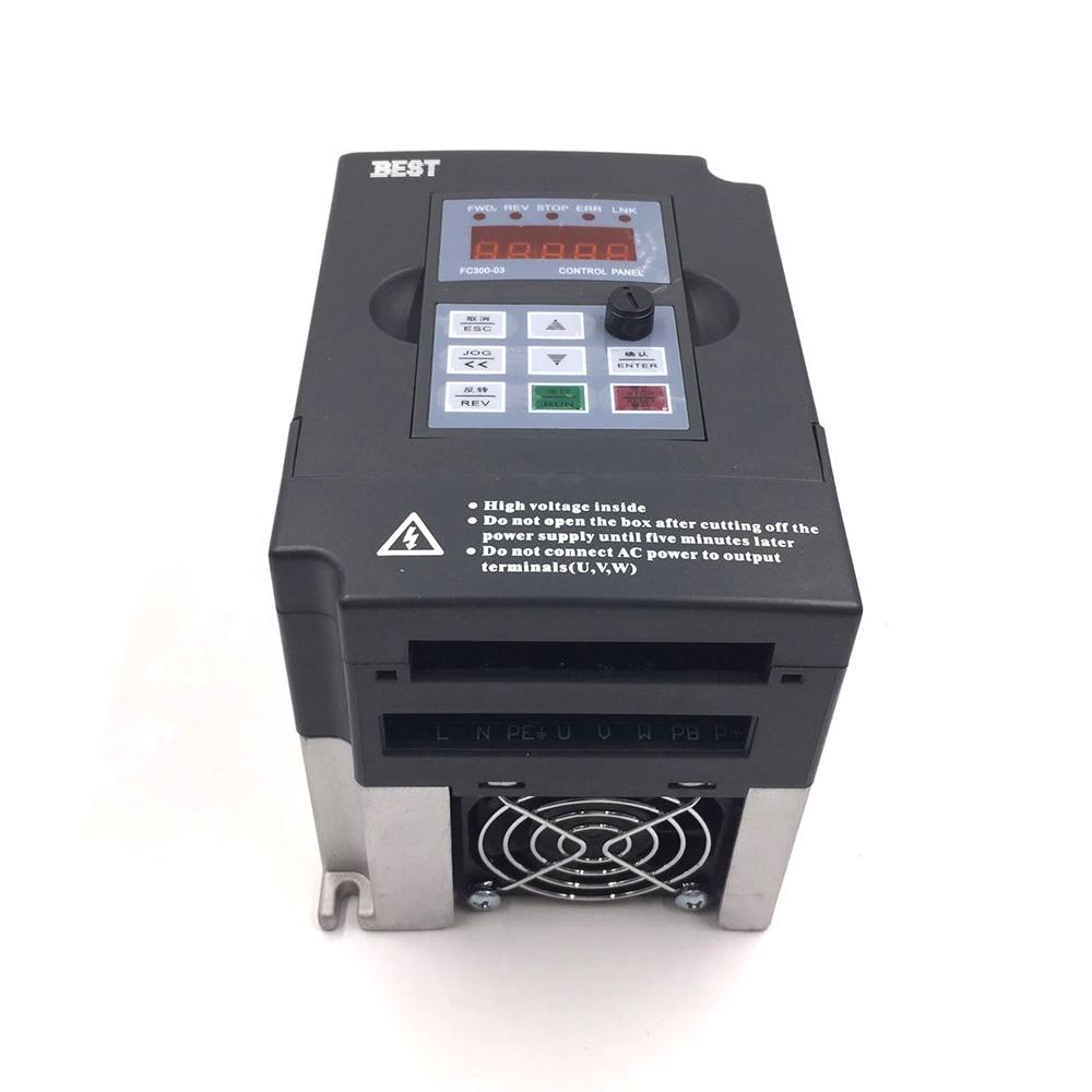 √CNC Spindle Motor Speed Control 0.75kw 220V VFD Drive CNC Control ...