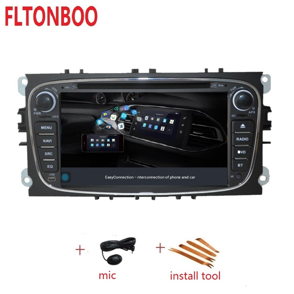 7inch Android 9 for ford focus 2 mondeo car DVD radio gps navigation 3G BT Wifi