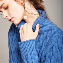 High-necked twist sweater women autumn and winter loose Korean version of the cashmere sweater shirt sets