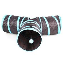 3 WAY Y Shape Foldable Cat Tunnel