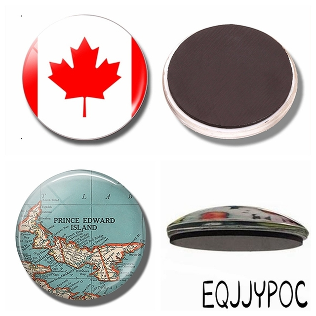Canada Map Flag.Canada National Flag 30mm Fridge Magnet Canadian Map Glass Dome