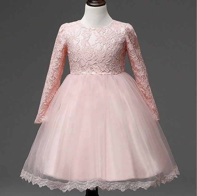 0e936b984c9f4 Bébé Filles dentelle robe rose blanc enfants vêtements marques partie robe  fille arc 4 T 1