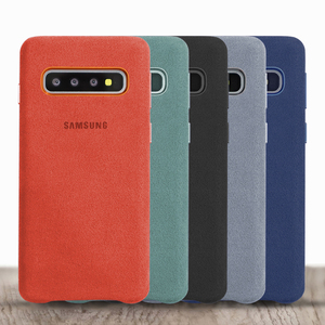 Image 4 - Samsung S10e Cover Official Original Genuine Suede Leather Back Case For Samsung Galaxy S10 Plus Case Protector Cover