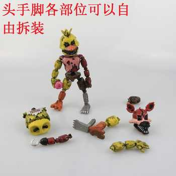 6Pcs/set Lightening Movable joints Five Nights At Freddy\'s Action Figure Toys Foxy Freddy Chica PVC Model Dolls With kids toys