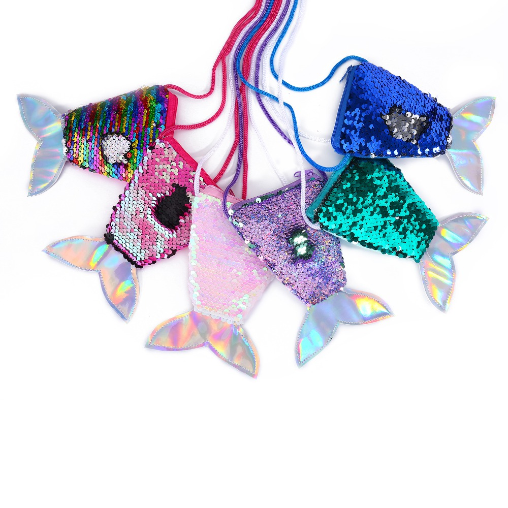 Cute-Mermaid-Baby-Girls-Crossbody-Bags-Hologram-Tail-Mini-Shoulder-bag-Color-Sequins-Children-Clutch