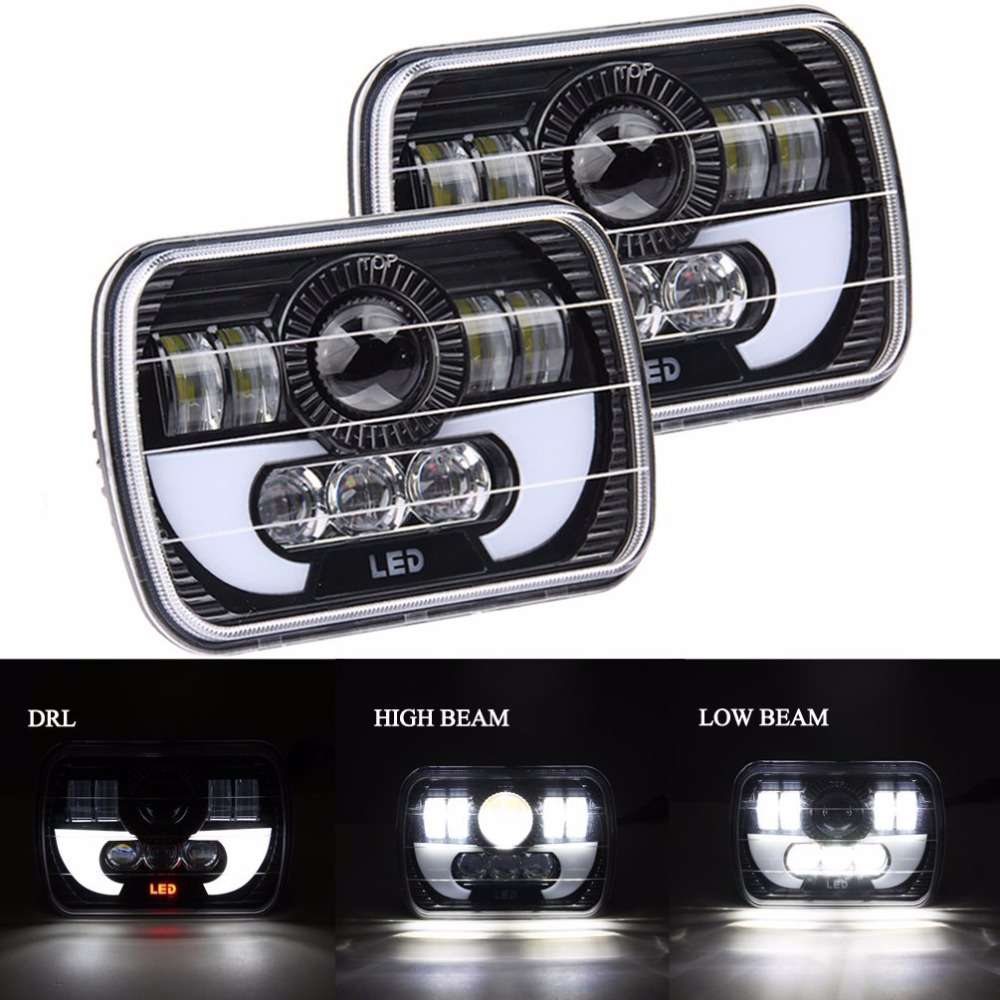 1 pair replacement headlight for gmc truck 4x4 offroad jeep wrangler yj cherokee xj mj with