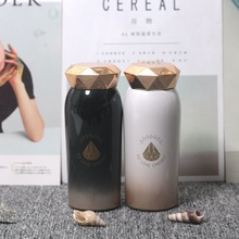 Gradient Brief Thermo Mug Stainless Steel Vacuum Flask Diamond Water Cup Outdoor Portable Trend Bottle