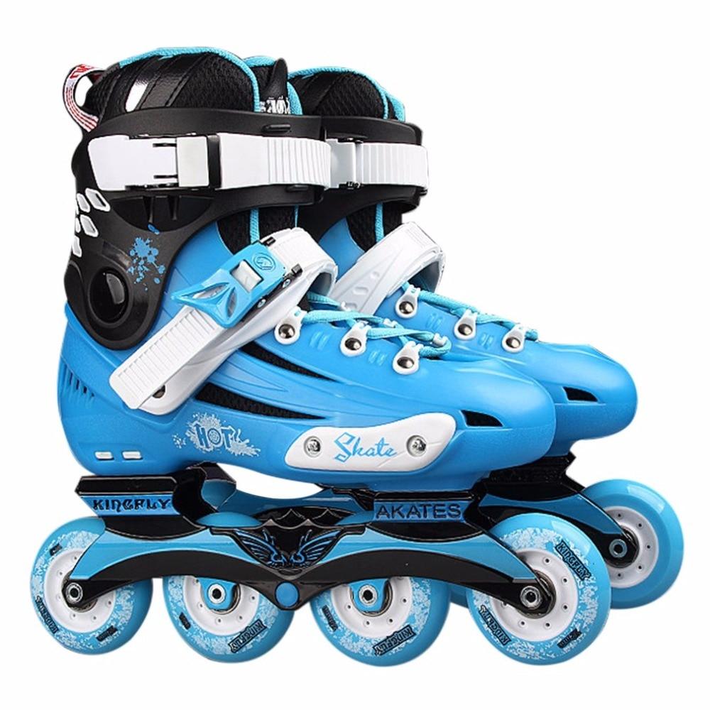 Professional Skate Shoes Fancy Single-row Roller Skates Adult Inline Skates Universal Skating Rink Skates For Men And Women pro quality roller skates shoes cotton fabric full set adult breathable roller skate skating shoes with shinning wheels