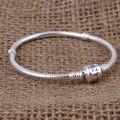 Zmzy 100% cadeia de cobra de prata esterlina 925 clipe charm bracelet para as mulheres homens pulseira diy jóias