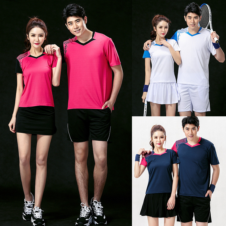 tenis masculino , couples badminton suits shorts quick-drying , ropa tenis de mesa , shirt ping pong , tennis de table vetement