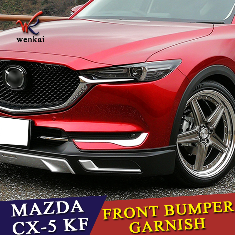 Accessories For Mazda CX-5 CX5 2017 2018 Front Fog Light Foglight Lamp Under Protector Lid Eyelid Eyebrows Cover Kit Trim new hot sale 2016 korean style boy autumn and spring baby boy short sleeve t shirt children fashion tees t shirt ages
