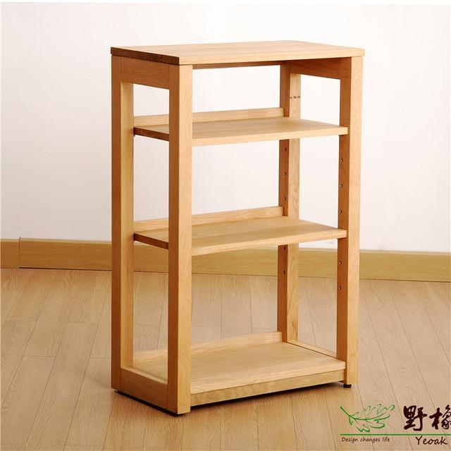 Yeoak BC325 3 Simple Wood Bookshelf Display Rack