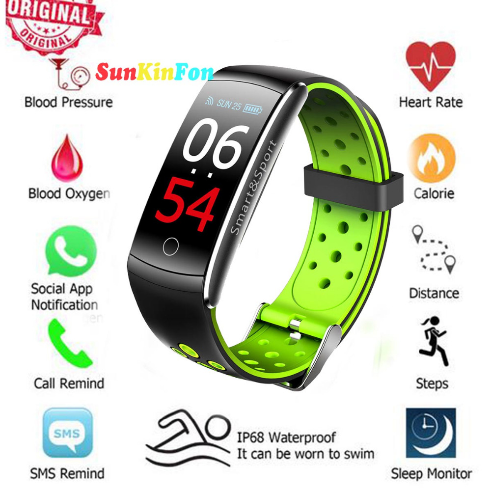 цена U17 HD Color Screen Smart Wristband Bracelet Dynamic Heart Rate Blood Pressure Oxygen Smart Band for Huawei Mate RS 10 Pro S 9 8