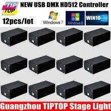 Быстрая доставка Quman DMX 512 Свет Этапа Контроллер ПК Программное Обеспечение Новая Версия HD 512 Box Avolites Pearl2004/Diamond 4/Титан