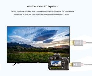 Image 5 - מיני HDMI לכבל HDMI תואם עם HDMI 2.0a/b, 2.0, 1.4a (Ultra HD, 4K, 3D, מלא HD, 1080p, HDR, קשת, Highspeed
