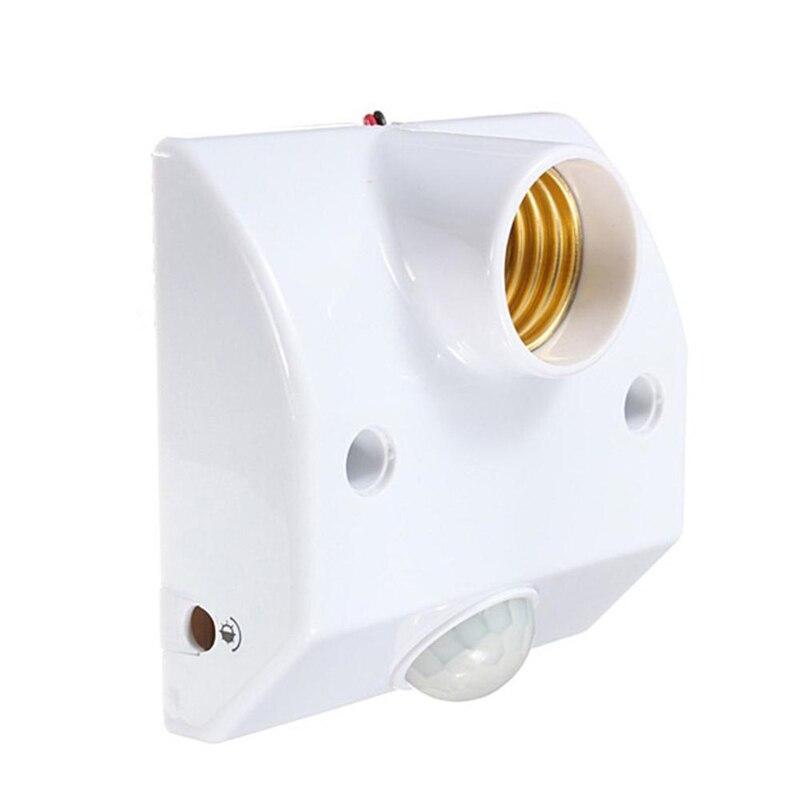 1 pcs E27 PIR Motion Sensor LED Base De La Lampe Titulaire AC 180-240 v Avec Infrarouge Induction Lumière Contral ampoule Socket Retard Off Titulaire