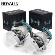 ROYALIN Metallo Hella 3R G5 Bi Fari Allo Xeno Lente D2S Luci Del Proiettore Lampada Auto Universale D1S D2H D3S D4S Lampadine motori Retrofit
