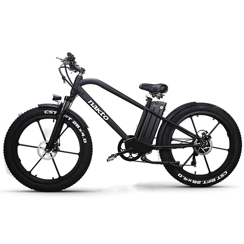 26 pouces vélo de montagne électrique grosse neige ebike 4.0 pneu large 48V500W moteur haute vitesse super vélo électrique