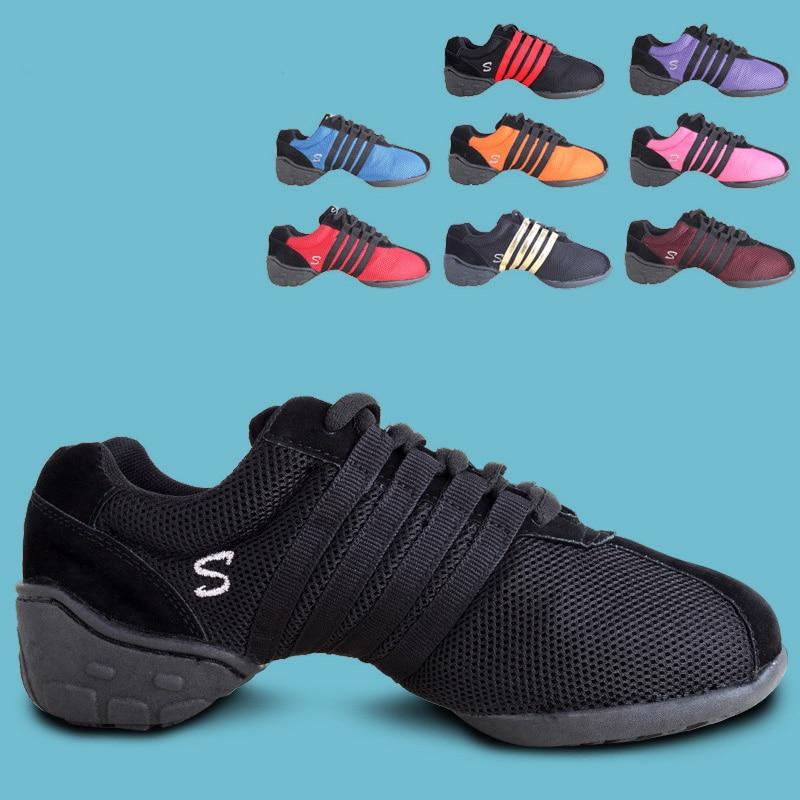 2017 Nuevo de mujeres zapatos de baile Jazz Hip Hop zapatos Latina Salsa baile zapatillas de deporte para mujer zapatos más tamaño 34 ~ 43