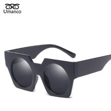 7b27aa88f0 Umanco Modern Round Mirror Oversized Sunglasses Men Women Vintage Plastic  Wide Legs Male Eyewear New Fashion Summer Rays Goggles