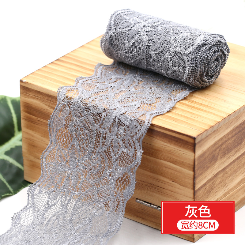 HTB17dKMbvvsK1Rjy0Fiq6zwtXXa0 8cm Spandex Lace Elastic Crafts Sewing Ribbon White Black Stretch Lace Trimming Fabric Knitting Material DIY Garment Accessories