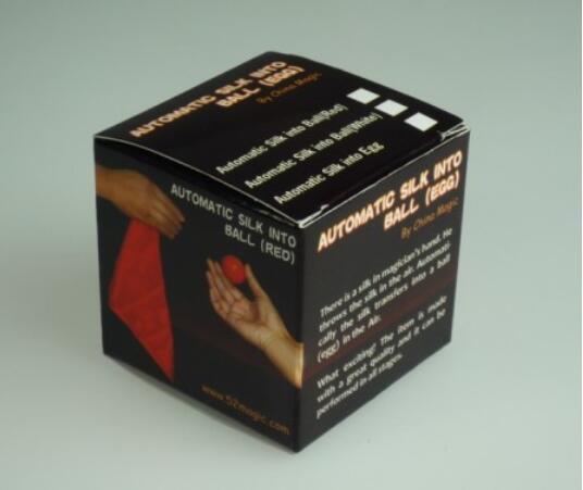 Soie automatique En Boule (Blanc/Rouge Couleur Disponible) tours de Magie Magicien Écharpe Magie D'illusion D'étape Gadget Accessoires Comédie