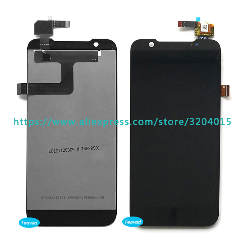 10pcs/lot high quality 4.5 For ZTE Grand Era V985 U985 LCD Display Screen With Touch Screen Digitizer Assembly Repair Parts