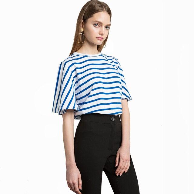 Princess T Shirt Womantops Striped Contrast Harajuku Crop Top