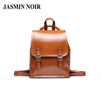 New Women Genuine Leather Backpack Famous Brand School Bags Designer Cowhide High Quality Daypack Ladies Tote