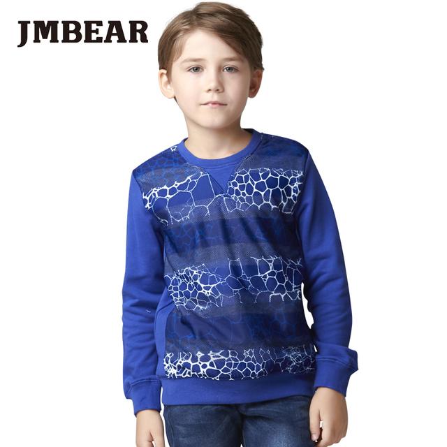 Jmbear 6-14 anos meninos grosso hoodies t-shirt de manga longa de algodão tee crianças camiseta roupas da moda tops para o outono 2016 nova