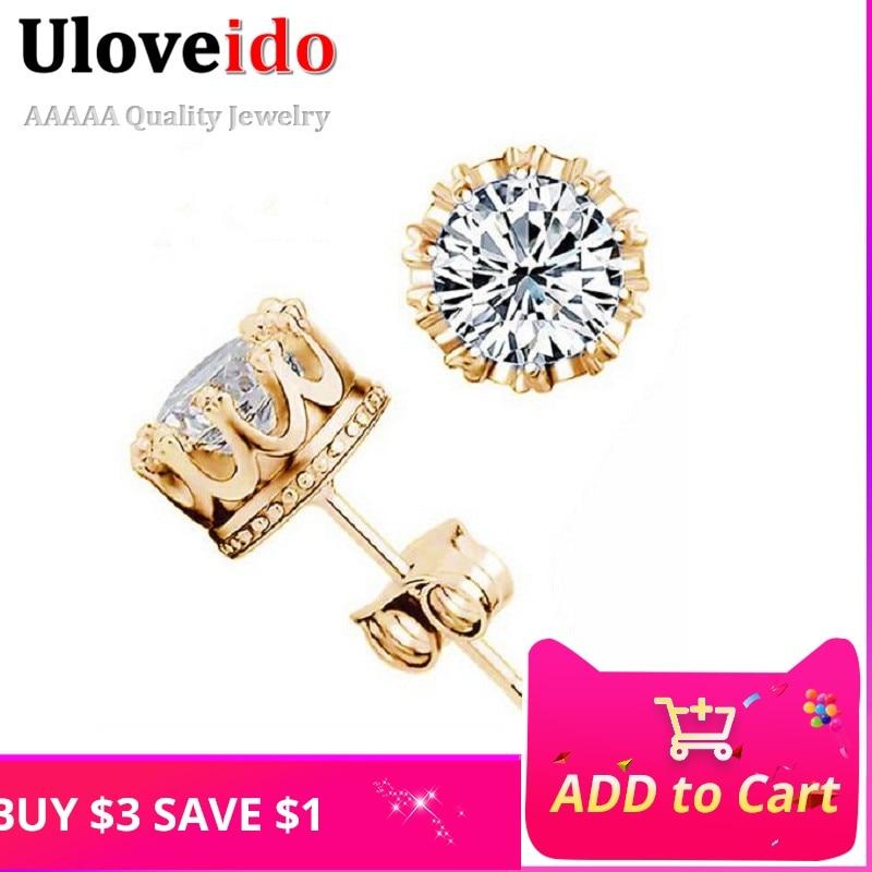Uloveido أقراط للنساء الخواتم الفضية - مجوهرات الأزياء