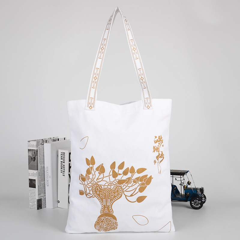 500pcs Foldable Eco Shopping Bag Reusable Tote Pouch Women Student Fashion Canvas Shoulder Bags Women Travel Storage Handbag