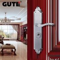 GUTE 304 нержавеющая сталь открытый дверной замок матовая отделка полировка Двойная защелка передняя внешняя дверь замок Противоугонная