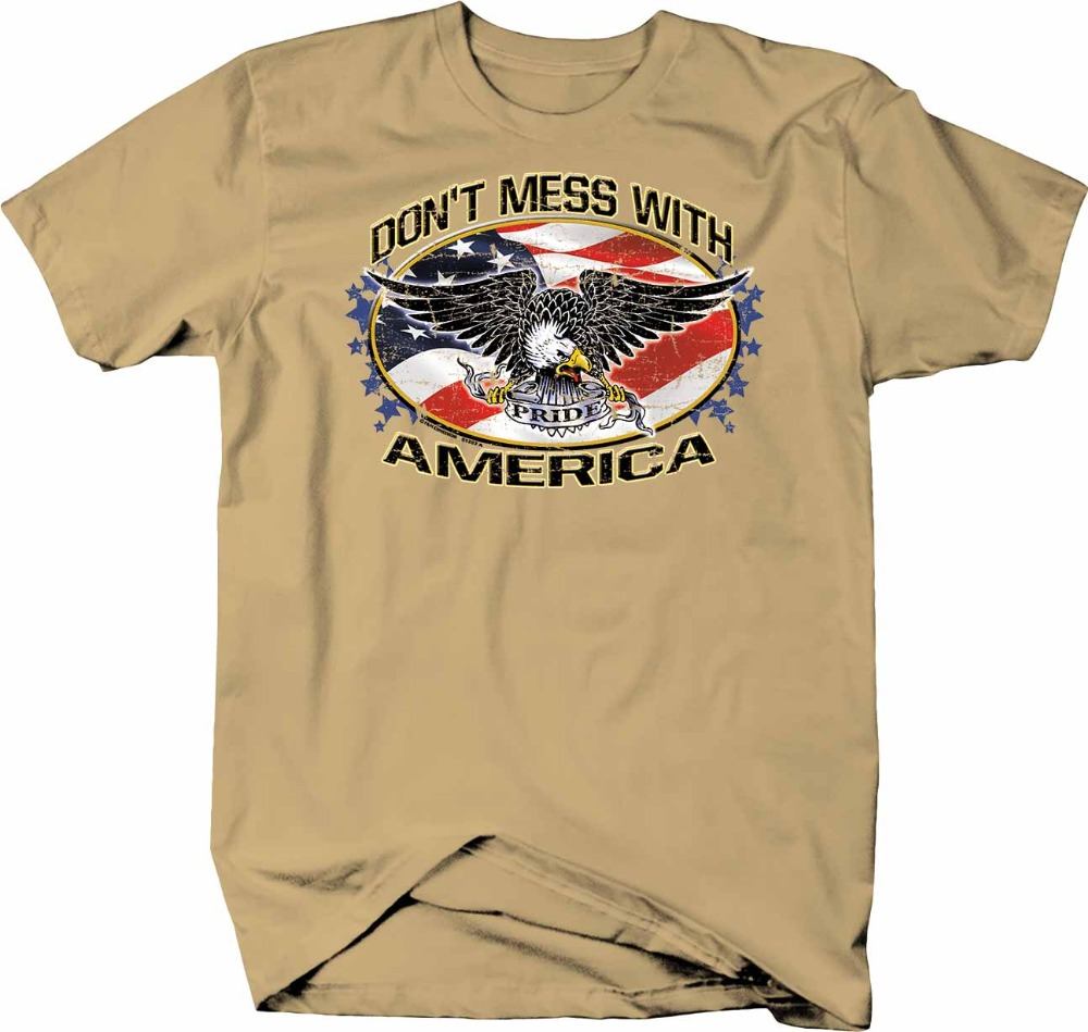 Don'T Mess with America American Bald Eagle Pride Usa Flag Free 2019 New Men Unisex Funny Tops Tee Basic Models Best T Shirt image