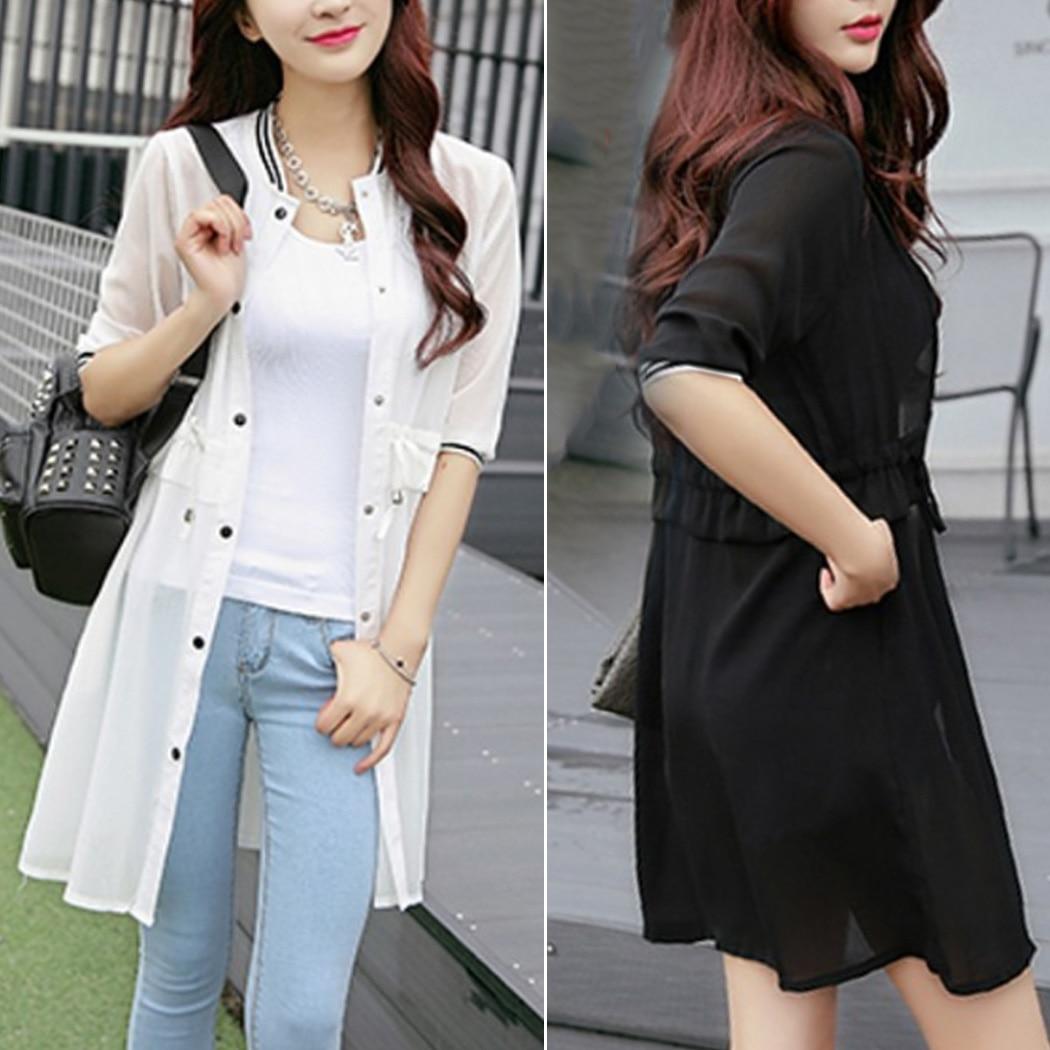 279c533d369 2019 Women Kimono Cardigan Plus Size Half Sleeve Chiffon Blouses ...