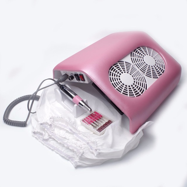 Strong Power 48W Nail Dust Collector 2 Fans Nail Fust Fan Nail Dust ...