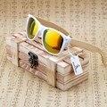 БОБО ПТИЦА Ручной Работы Солнцезащитные Очки Женщины Очки Бамбука и Белая Пластиковая Рамка Красочный Поляризованные Линзы Очки óculos de sol женщина для