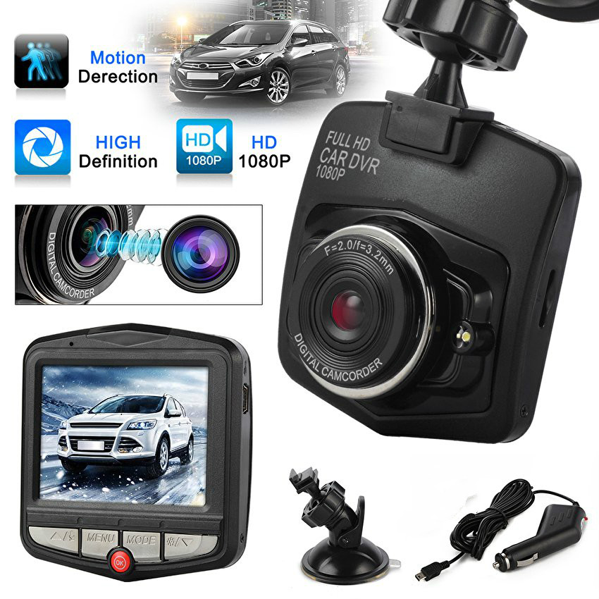 Mini Car DVR Camera Recorder Full HD 1080P 2.4LCD Night Vision G-sensor Video Registrator Dash Cam Cycle Recording (Black) plusobd car recorder rearview mirror camera hd dvr for bmw x1 e90 e91 e87 e84 car black box 1080p with g sensor loop recording