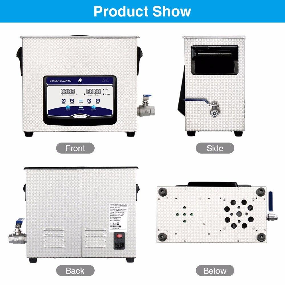 SKYMEN Digital ultrasonic cleaner 6l 6.5L 180W 110/220V Ultrasonic cleaner dental sonic ultrasonic golf ball washer  JP-031S