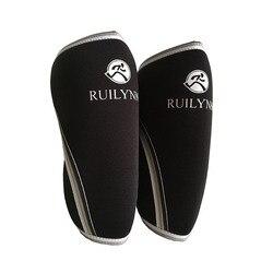 1 par 7mm halterofilismo luvas do joelho powerlifting & crossfit neoprene compressão joelho suporte exercícios de fitness conjunta protectio