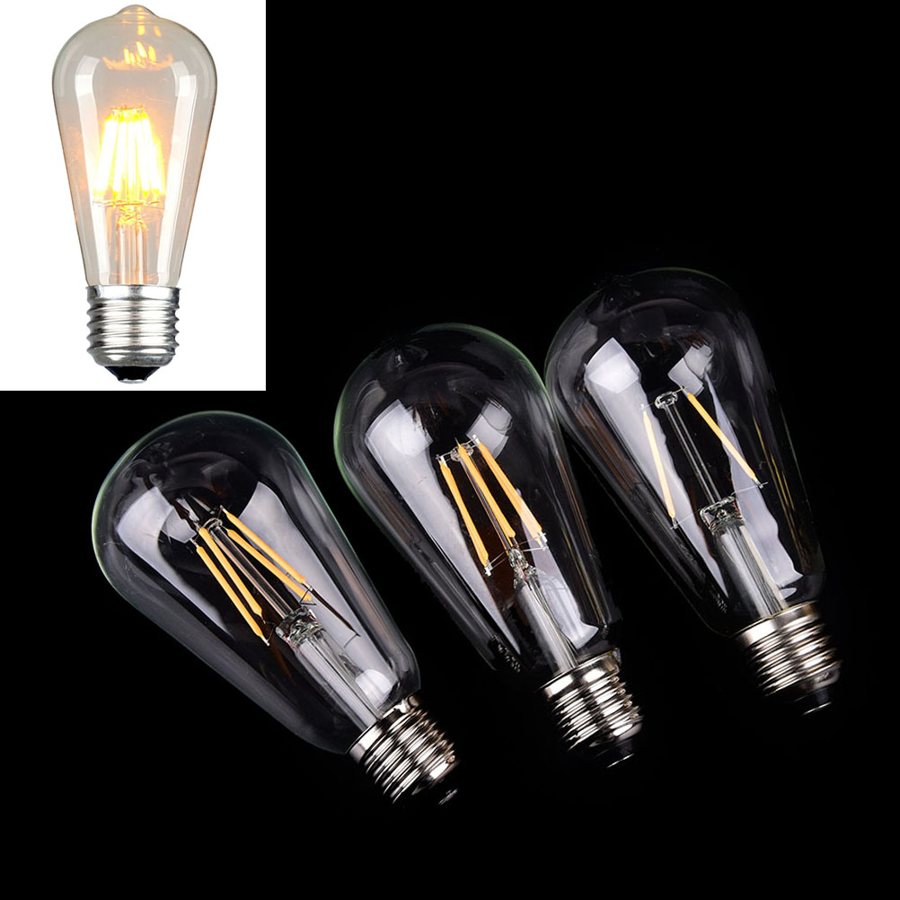 2w 4w 6w 1x bulb 220v Edison Bulb E27 Retro Lamp filament edison Incandescent Light bulb ampoule vintage Lamp For decor